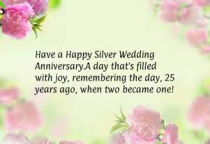 25th happy anniversary silver wedding cards for wooinfo