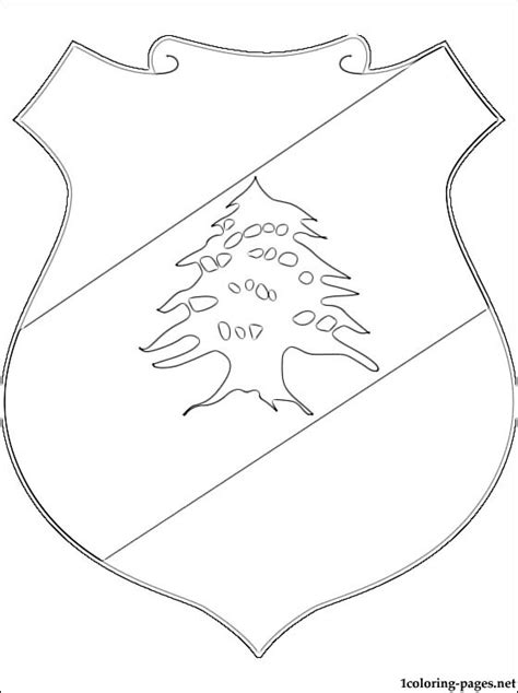 lebanon coat of arms coloring page coloring pages