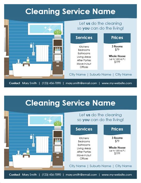 Cleaning Service Flyer Template For Word Cleaning Company Flyer Template