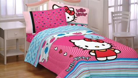 hello kitty bed sets hello kitty twin bed sheet set 3pc sanrio free time