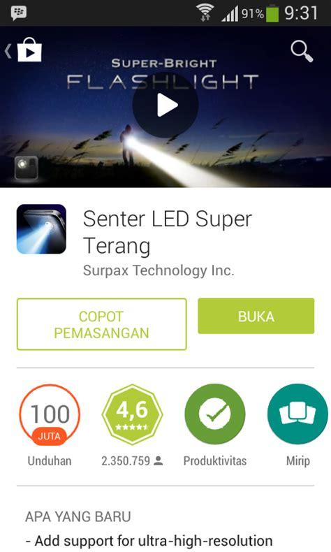 Lu Senter Led Terang cara membuat senter pada smartphone dan tablet android