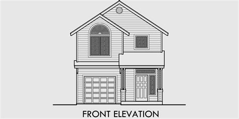 House Plans With A View To The Front by Narrow Lot House Plan Small Lot House Plan 22 Wide Plan