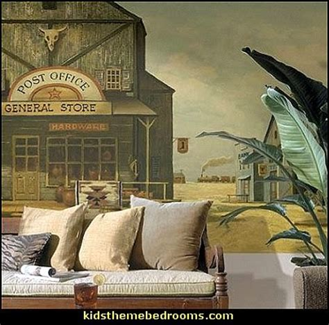 western wall murals decorating theme bedrooms maries manor western