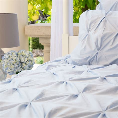 blue pintuck comforter light blue duvet cover the valencia light blue crane