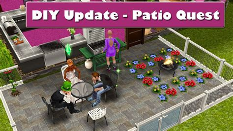 sims freeplay diy update patio quest