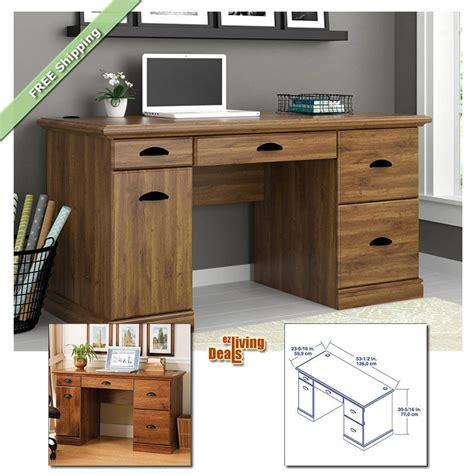 computer desks  home office  storage table wood furniture desk abby oak ebay