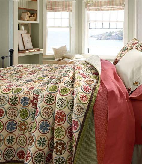 ll bean bed sheets blooming circles quilt quilts free shipping at l l bean