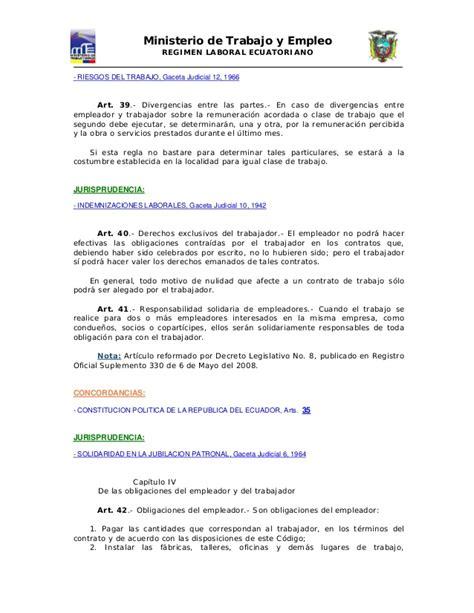 codigo de trabajo pdf 2016 ecuador 18671394 codigo laboral ecuatoriano ministerio del trabajo