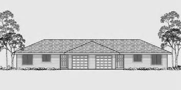 2 Story Floor Plans With Garage by One Level Duplex House Plans Corner Lot Duplex Plans