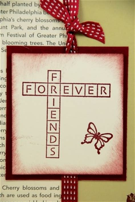 Forever Handmade Cards - friends forever on this handmade friendship greeting card