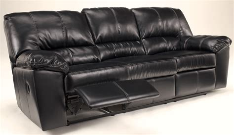 Durablend Reclining Sofa Durablend Black Reclining Sofa 4540088 Furniture