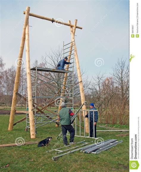 swing builder swing under construction stock photo image 39918667