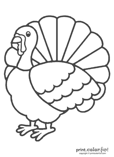 printable turkey cut and color turkey coloring page free large images