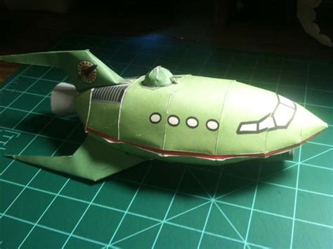 planet express ship papercraft by drearacite on deviantart