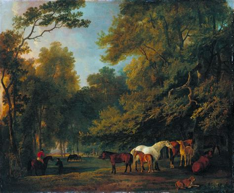 Landscape Tate Broodmares And Colts In A Landscape Sawrey Gilpin