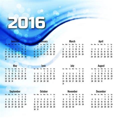 Azul Calendario Onda Azul Calend 225 2016 Baixar Vetores Gr 225 Tis