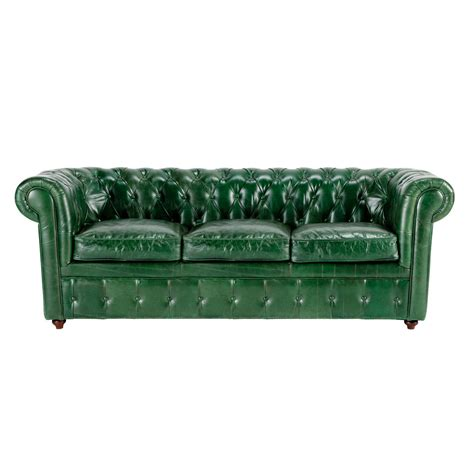 green leather sofa green leather sofa seats 3 vintage vintage maisons du