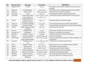 phrasal verbs list 1