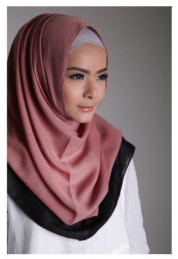 desain gambar hijab contoh model hijab modern dua warna desain terbaru 2016