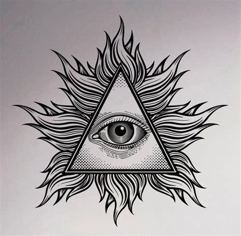 illuminati the eye aliexpress buy all seeing eye wall vinyl decal
