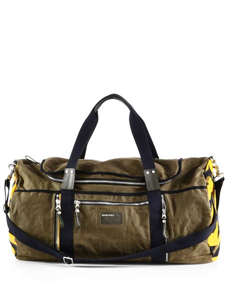 Diesel Bag by Diesel Mix Traction D Jimmy Duffel Bag In Green For Lyst