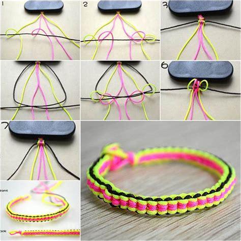 Make String - how to make diy 6 string braided friendship bracelet