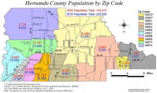 map hernando county florida 11 zip codes map