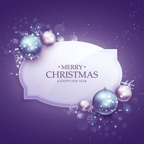 beautiful merry christmas decoration background  purple