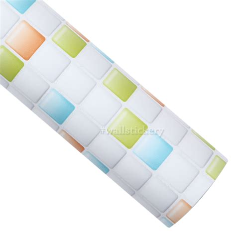 Self Stick Paper | mix candy tile contact paper peel and stick wallpaper