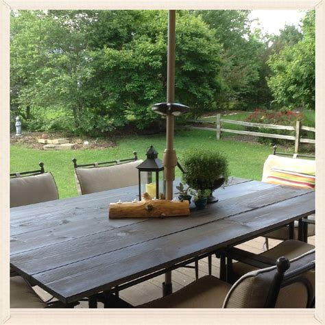 Diy Patio Table Top Hometalk Diy Rustic Patio Table Top