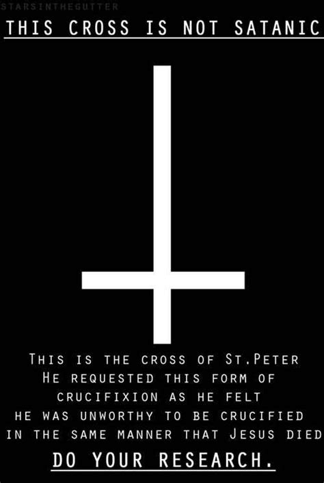 what does an upside down cross tattoo mean not satanic in fact several christian sects wear crosses