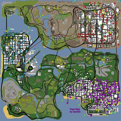 san andreas map image gta san andreas map