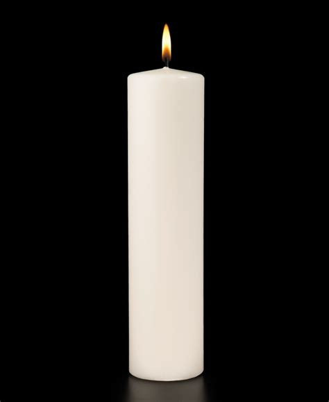White Candles White Ceremonial Pillar Candle