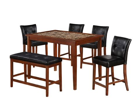 5pc faux marble dining table set sears outlet