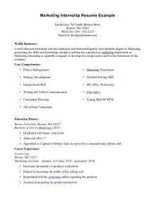 Sample resume for intern students online writing lab
