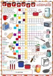 Kitchen Utensils Crossword ? Wow Blog