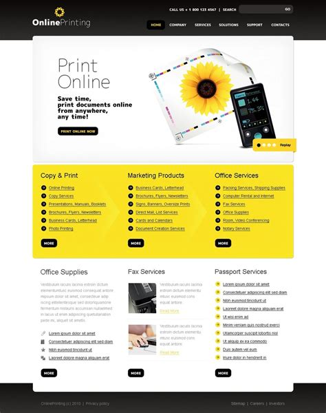 Print Shop Website Template 29903 Print Shop Website Template