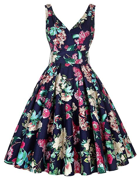 style staple the floral dress big swing dress summer style 2016 casual retro