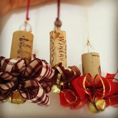 christmas decorations made from wine corks pubzday