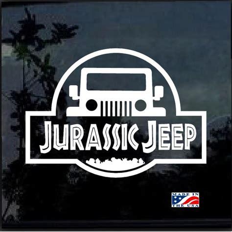 Jurassic Park Jeep Stickers jurassic park jeep decal sticker custom sticker shop