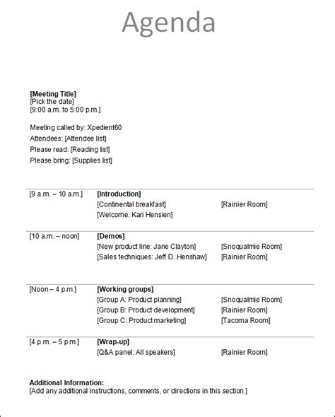 free templates for conference agenda agenda template 12 download free documents in pdf