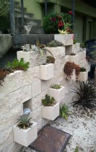 diy garden cinder block planter idea home sweet home