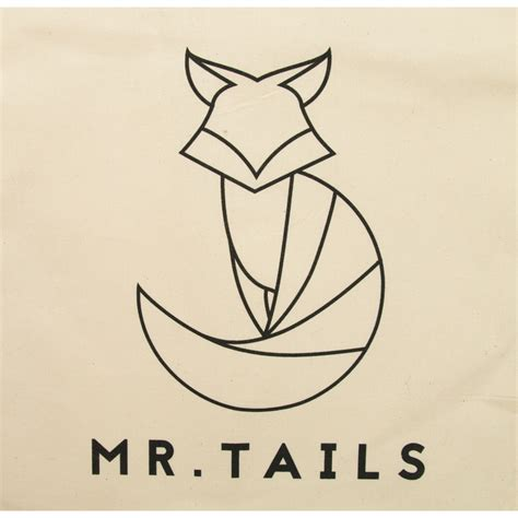 Tas Mr Go canvas tas 100 katoen met mr tails logo