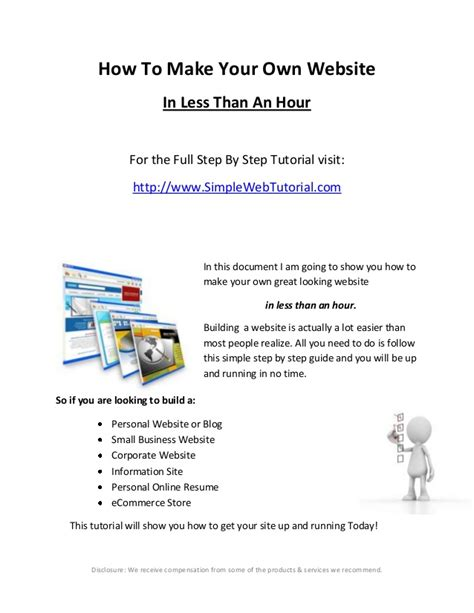 how to make a website how to make your own website a step by step guide