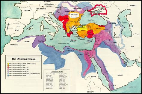 Map Of Ottoman Empire The Ottoman Turkish Empire