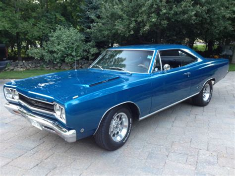 Qq Transivcency Color Original seller of classic cars 1968 plymouth gtx bright blue metallic original color code qq1 black