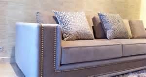 Studded sofa