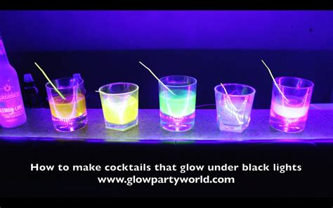 vodka tonic blacklight drinks that glow black lights