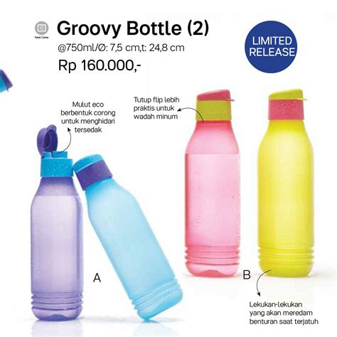 Botol Air Tupperware 750ml groovy bottle tupperware katalog promo terbaru tupperware