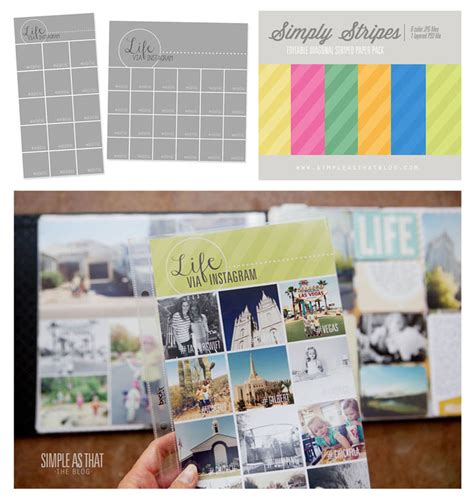 Instagram Collage Templates Simply Stripes Combo Pack Now Available In The Shop Instagram Collage Template